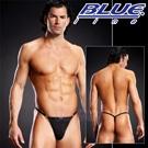 美國Blue Line-潮流哥金屬細丁字褲-經典黑(L/XL)