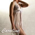 【Caroline性感睡衣】白色薄紗套裝